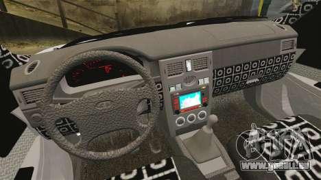 2170 Vaz-Lada Priora DPS pour GTA 4 est une vue de l'intérieur