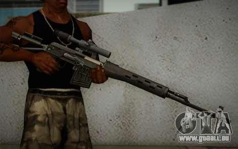 fusil 7,62 Dragunov SVD-s pour GTA San Andreas troisième écran