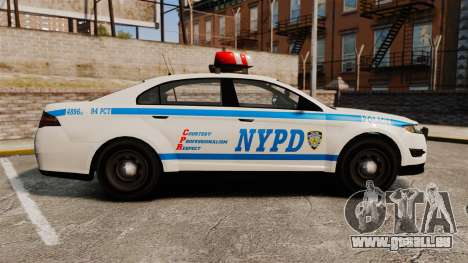 GTA V Police Vapid Interceptor NYPD für GTA 4 linke Ansicht
