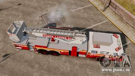 Seagrave Aerialscope Tower Ladder 2006 FDLC für GTA 4 rechte Ansicht