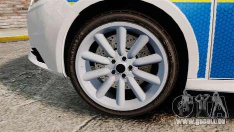 Ford Focus 2013 Uk Police [ELS] für GTA 4 Rückansicht