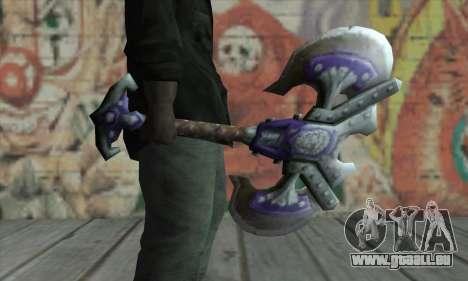 Hache de World of Warcraft pour GTA San Andreas deuxième écran