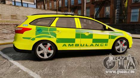 Ford Focus ST Estate 2012 [ELS] London Ambulance für GTA 4 linke Ansicht
