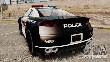 GTA V Police Elegy RH8 für GTA 4 hinten links Ansicht