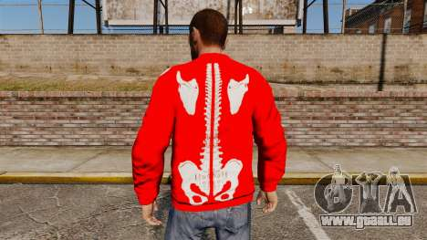 Roter Pullover-Skelett - für GTA 4 Sekunden Bildschirm
