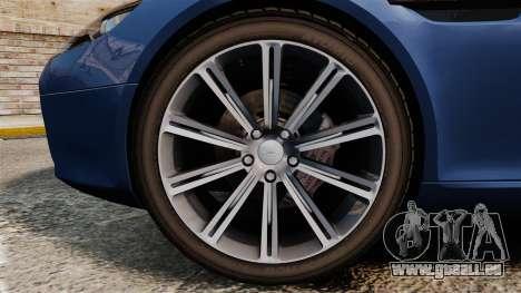 Aston Martin Rapide 2010 für GTA 4 Rückansicht