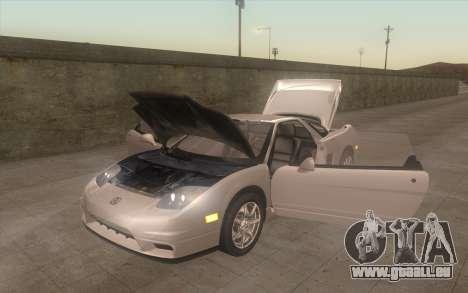 Acura NSX pour GTA San Andreas vue arrière