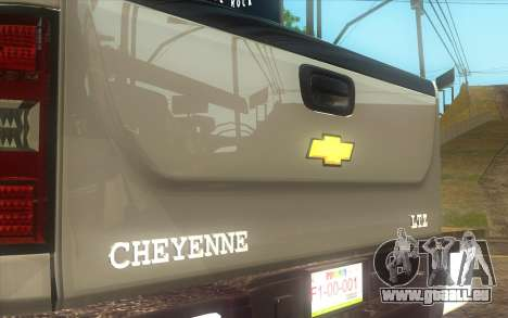 Chevrolet Cheyenne LT 2012 pour GTA San Andreas sur la vue arrière gauche
