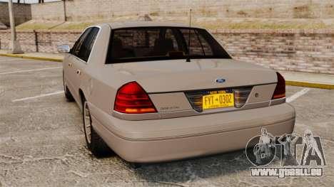 Ford Crown Victoria 1999 pour GTA 4 Vue arrière de la gauche
