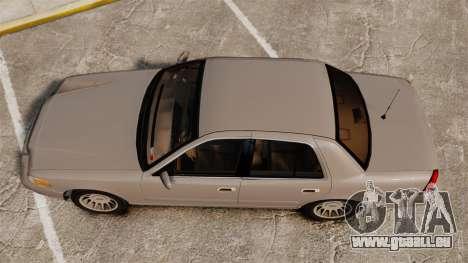 Ford Crown Victoria 1999 pour GTA 4 est un droit