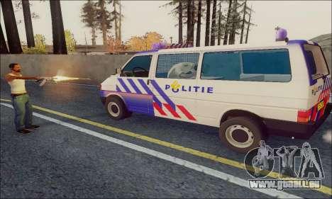 Volkswagen T4 Politie pour GTA San Andreas sur la vue arrière gauche
