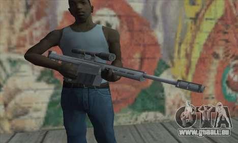 Fusil de sniper de la Saints Row 2 pour GTA San Andreas troisième écran