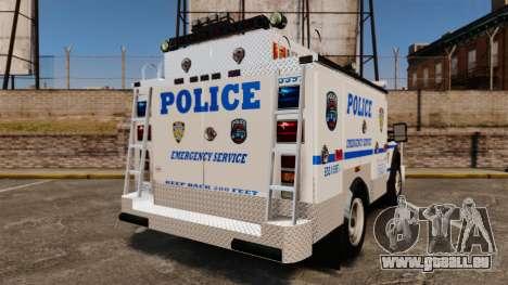 Ford F-550 2012 NYPD [ELS] pour GTA 4 Vue arrière de la gauche