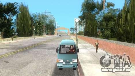 Kia Towner pour GTA Vice City sur la vue arrière gauche