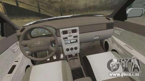 Lada Priora pour GTA 4 vue de dessus