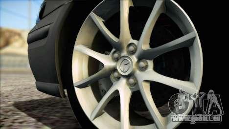 Mazda 626 pour GTA San Andreas sur la vue arrière gauche