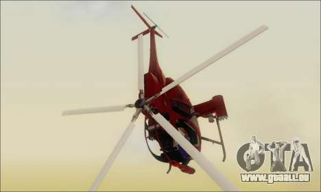 Bussard Angriff Hubschrauber von GTA 5 für GTA San Andreas zurück linke Ansicht