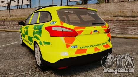 Ford Focus ST Estate 2012 [ELS] London Ambulance für GTA 4 hinten links Ansicht