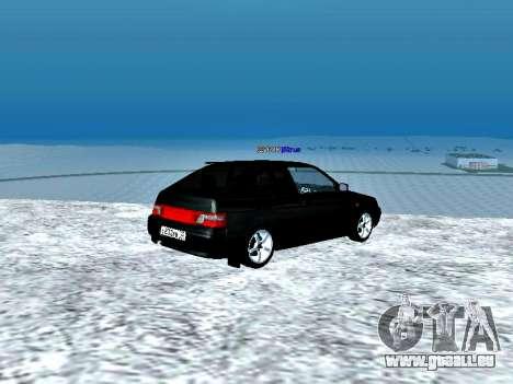 LADA 2112 coupé vert Sandpiper pour GTA San Andreas sur la vue arrière gauche