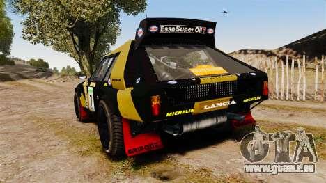 Lancia Delta S4 GroupB pour GTA 4 Vue arrière de la gauche