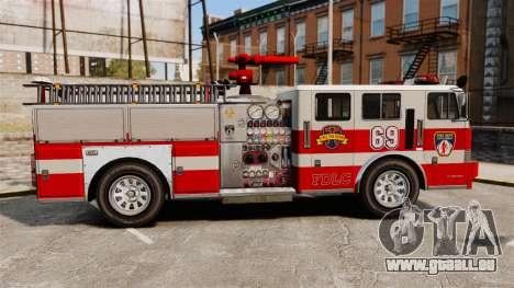 Feuerwehrauto für GTA 4 linke Ansicht