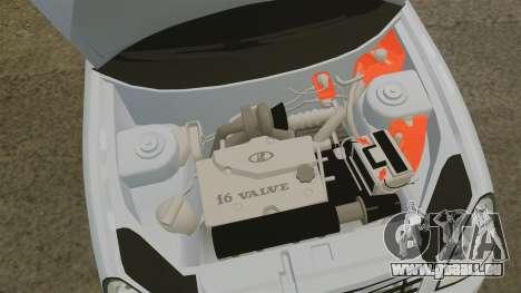 Lada Priora pour GTA 4 est une vue de l'intérieur