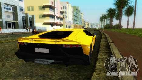 Lamborghini Aventador LP720-4 50th Anniversario für GTA Vice City zurück linke Ansicht