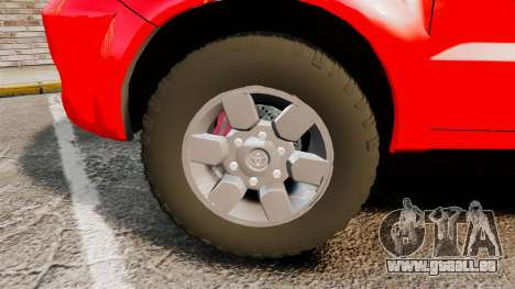 Toyota Hilux London Fire Brigade [ELS] pour GTA 4 Vue arrière