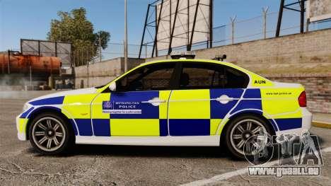 BMW 330i Metropolitan Police [ELS] pour GTA 4 est une gauche