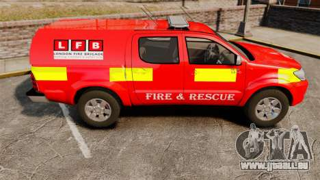 Toyota Hilux London Fire Brigade [ELS] für GTA 4 linke Ansicht
