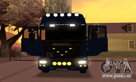 Scania Topline R730 V8 pour GTA San Andreas vue arrière