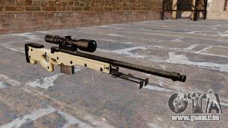 Fusil de sniper AW L115A1 pour GTA 4