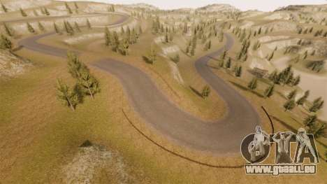 Cliffside emplacement Rallye pour GTA 4 neuvième écran