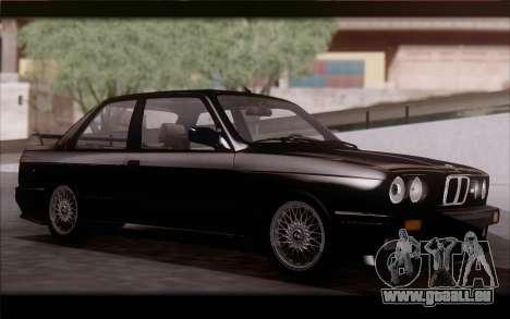 BMW M3 E30 Stock Version pour GTA San Andreas laissé vue