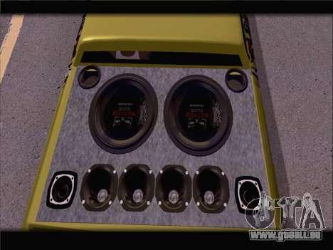 New Slamvan für GTA San Andreas Rückansicht