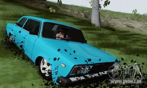 VAZ 2107 coupé pour GTA San Andreas vue arrière