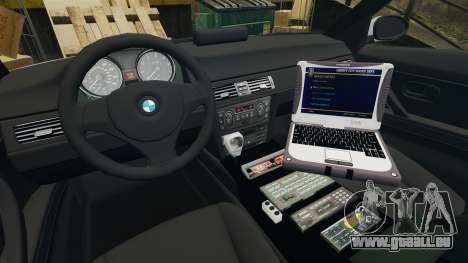 BMW 330 Metropolitan Police [ELS] pour GTA 4 Vue arrière