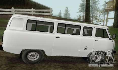 UAZ 2206 miche pour GTA San Andreas laissé vue