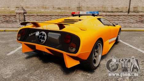 Infernus Police pour GTA 4 Vue arrière de la gauche