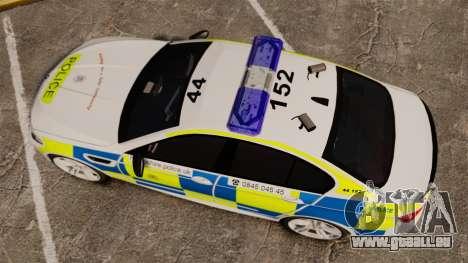 BMW M5 Marked Police [ELS] für GTA 4 rechte Ansicht