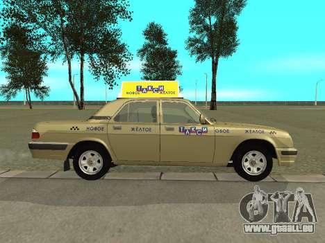 GAZ 31105 Volga Taxi für GTA San Andreas zurück linke Ansicht