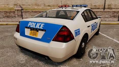 Pinnacle Police LCPD [ELS] pour GTA 4 Vue arrière de la gauche