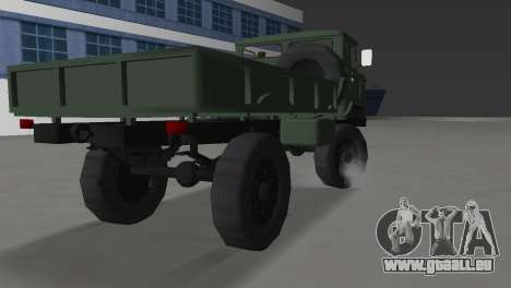 GAZ 66 pour GTA Vice City sur la vue arrière gauche