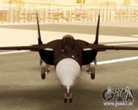 Su-47 Berkut v1.0 pour GTA San Andreas sur la vue arrière gauche