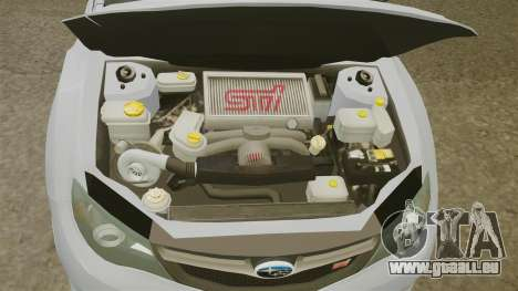 Subaru Impreza 2010 pour GTA 4 est une vue de l'intérieur
