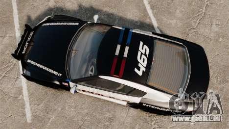 GTA V Police Elegy RH8 für GTA 4 rechte Ansicht