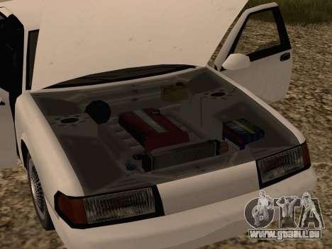 Fortune Sedan pour GTA San Andreas vue de droite