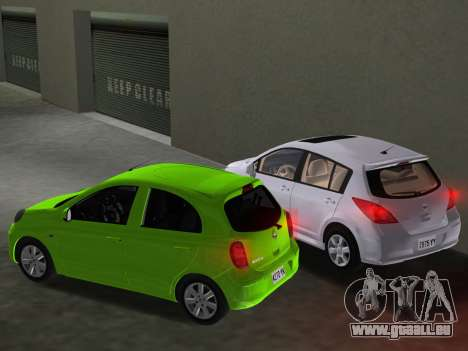 Nissan Tiida pour GTA Vice City Salon