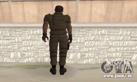 Chris Redfield v2 pour GTA San Andreas deuxième écran
