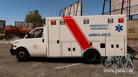 Brute B.C. Ambulance Service [ELS] für GTA 4 linke Ansicht